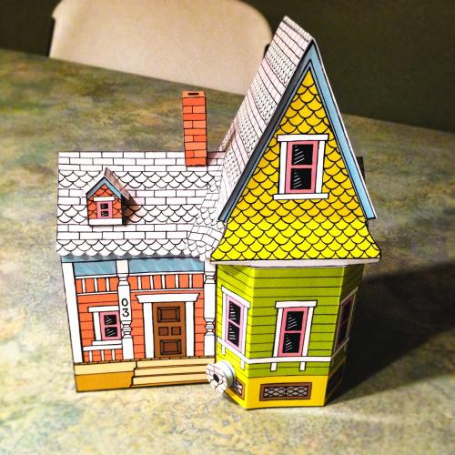 Easy UP House Paper Model