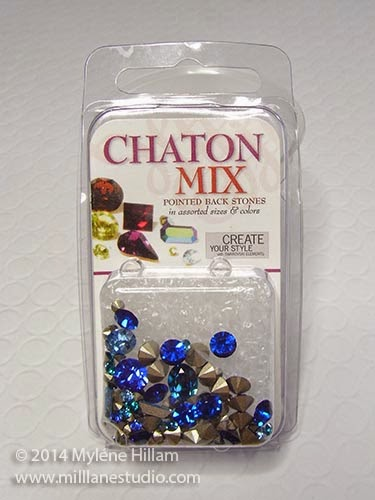 Pack of mixed blue Swarovski chatons