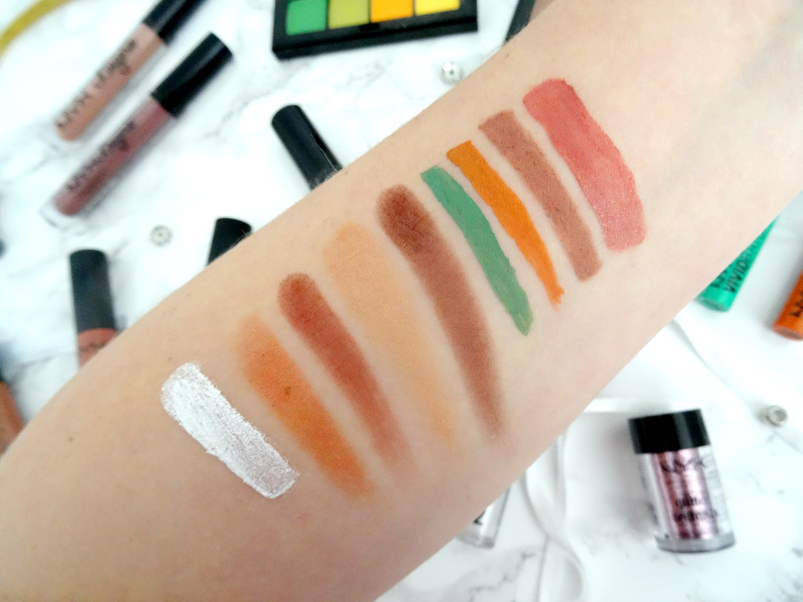 NYX Cosmetics Swatches
