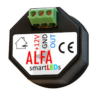 Tył czujników odległości i ruchu ALFA i DELTA smartLEDs 12V