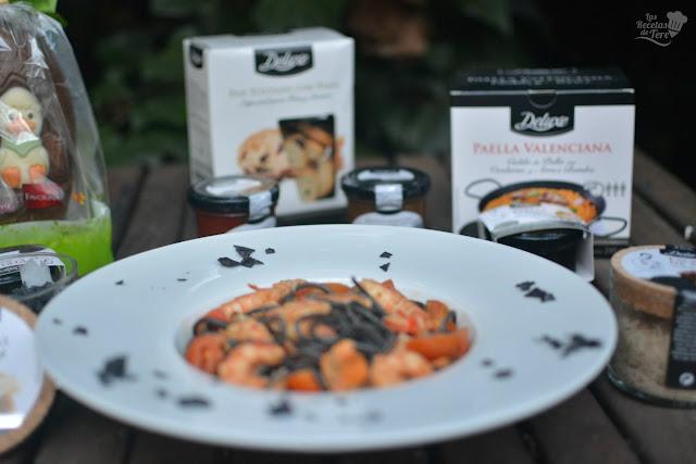 Espaguetis negros de sepia con langostinos y mejillones las recetas de tere 01