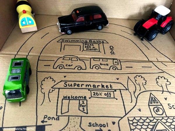 Cardboard Road Small World