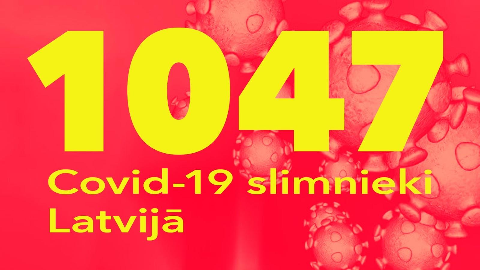 Koronavīrusa saslimušo skaits Latvijā 24.05.2020.