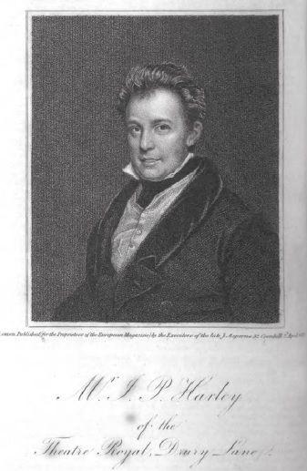 le comédien et chanteur John Pritt Harley en 1821