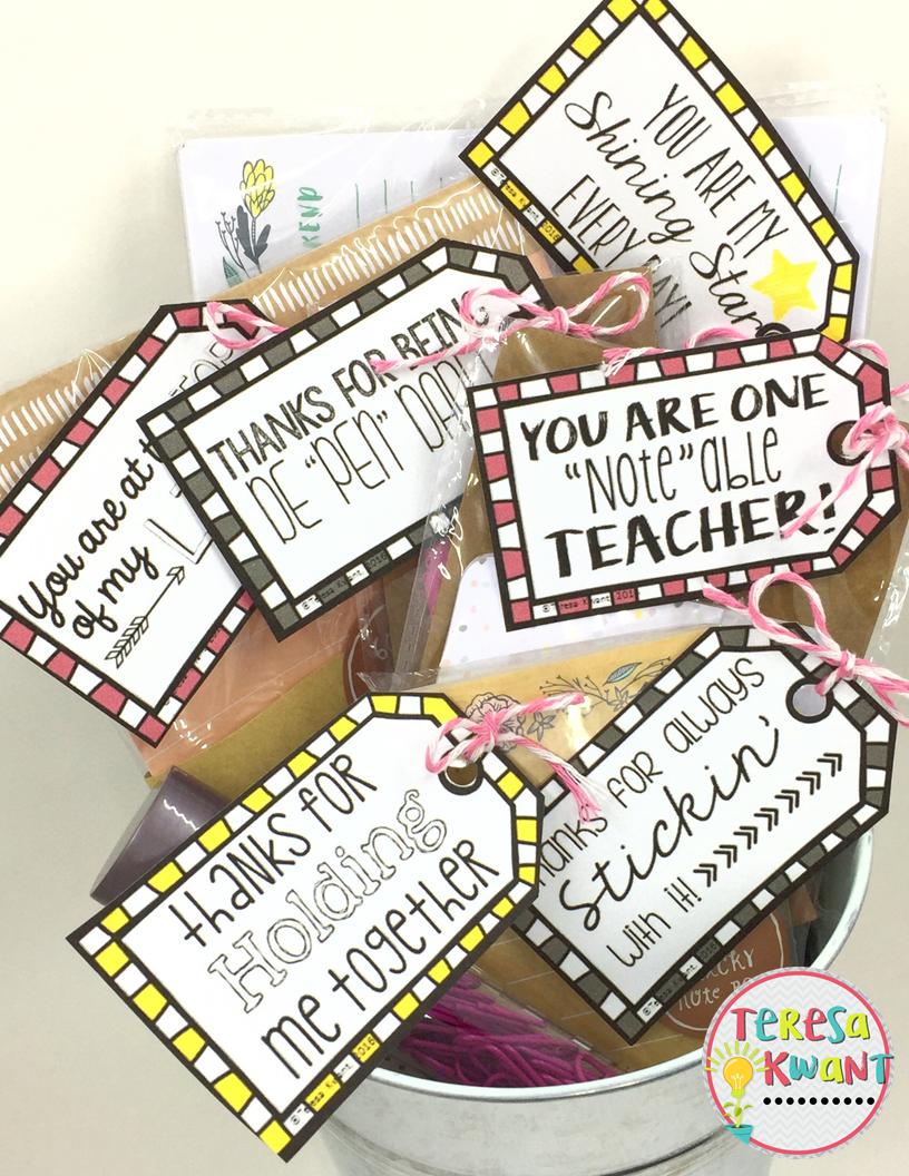 simple teacher appreciation gifts teresa kwant. Black Bedroom Furniture Sets. Home Design Ideas
