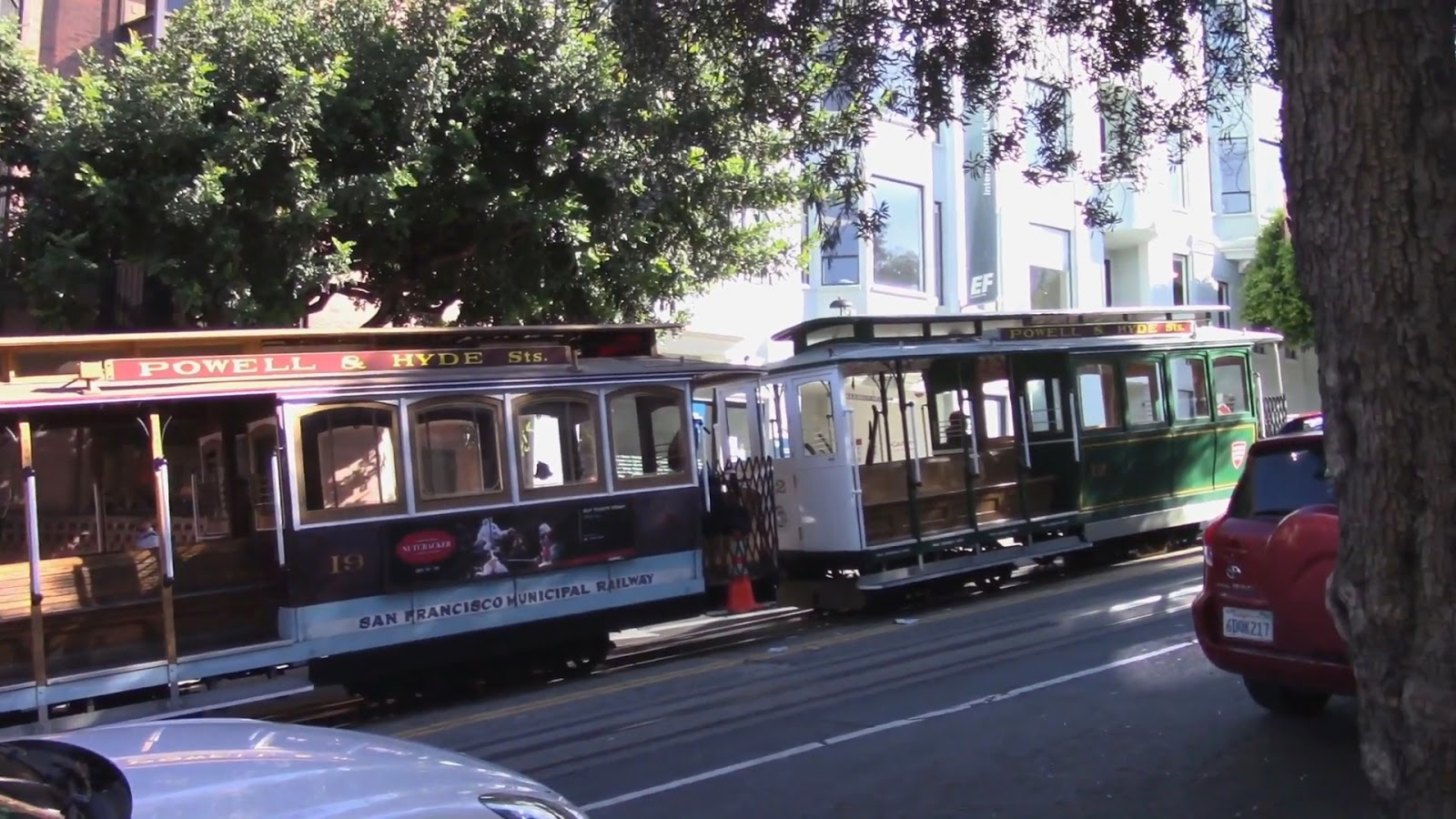 Tram ancien sur Hyde Street, San Francisco