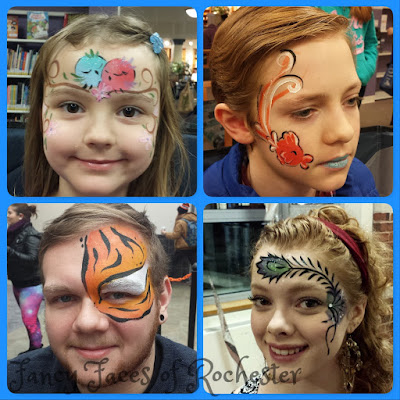Face painting by Fancy Faces of Rochester