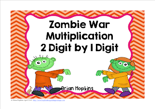 Zombie War Multiplication 2 Digit by 1 Digit