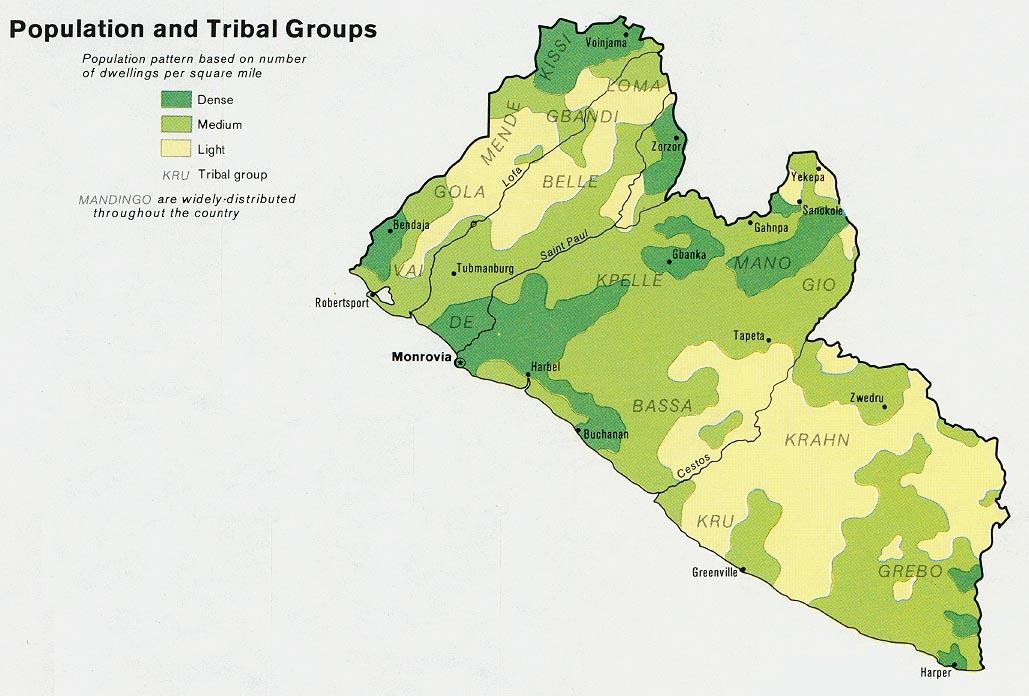 Libéria | Mapas Geográficos da Libéria