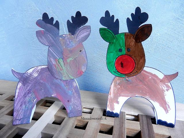 || Activité/DIY : Déco de Noël en papier, les rennes du Père Noël