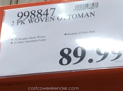 Deal for a 2 pack of Woven Ottoman at Costco