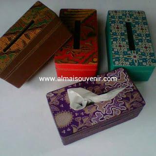 souvenir jogja box tisu finil batik kotak persegi