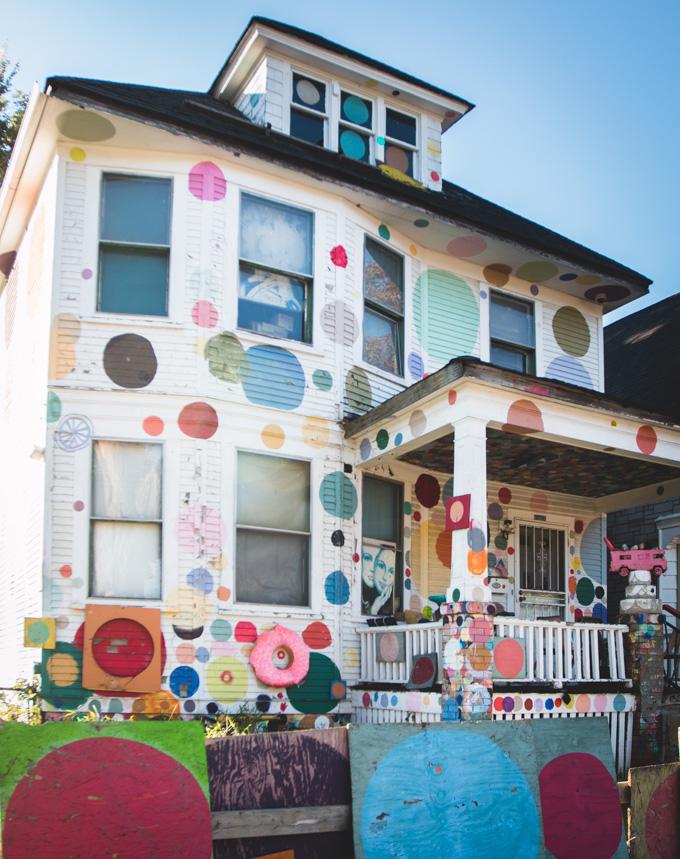 Heidelberg Project, detroit, polka dot house