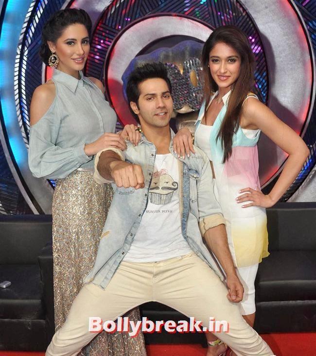 Nargis Fakhri, Varun Dhawan and Ileana D'Cruz, Nargis Fakhri,  Ileana D'Cruz at Boogie Woogie Grand Finale 2014