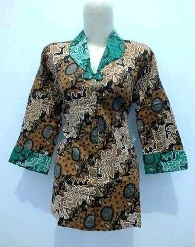 Model Baju Seragam Batik Guru Modis Modern