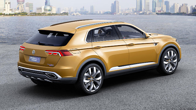 Volkswagen CrossBlue Coupé SUV Concept rear side