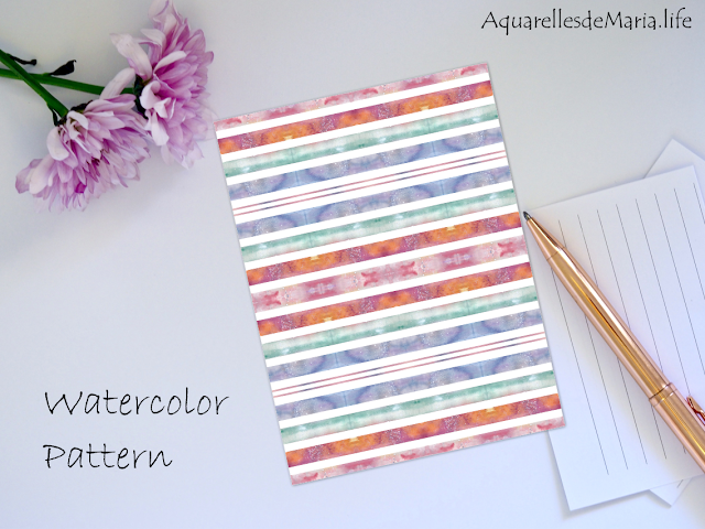 Watercolor Sunset Pattern Design