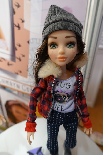 Close up of one of the Project Mc2 dolls