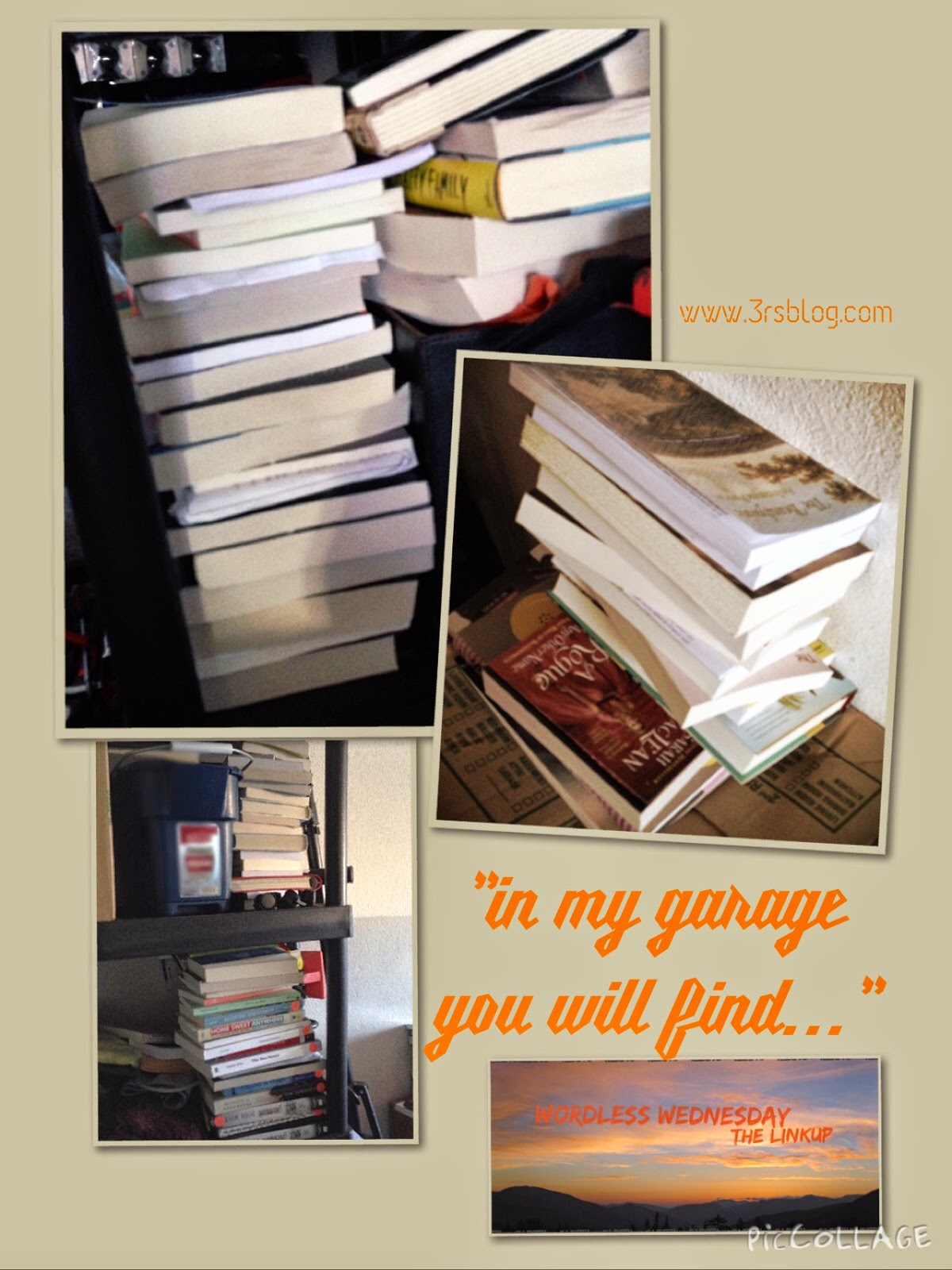 #WordlessWednesday: books in the garage The 3 Rs Blog