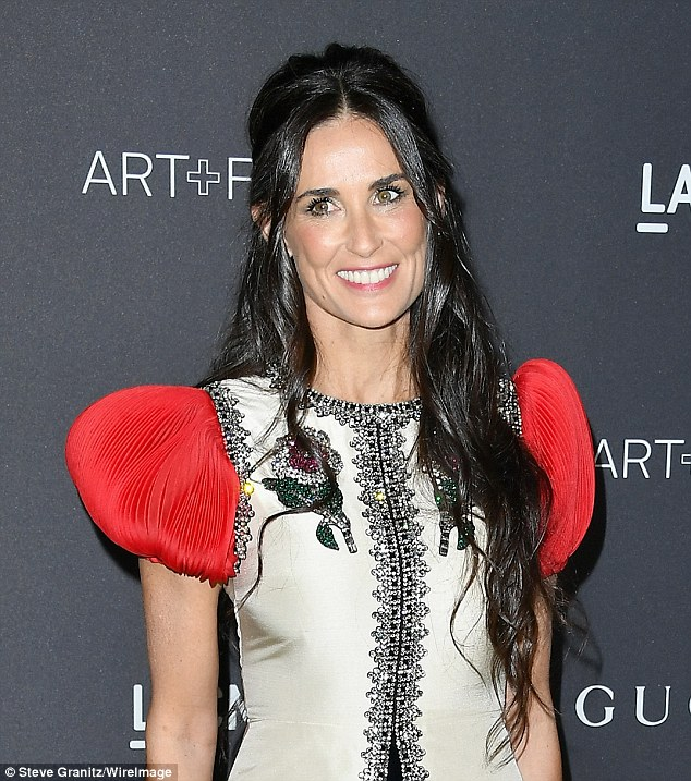 Demi Moore flaunts legs in Gucci at the LACMA Art + Film Gala in LA