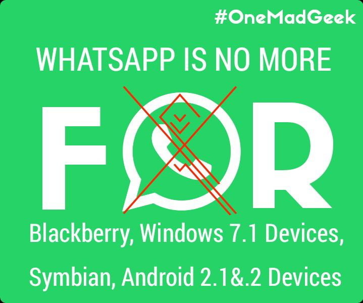 WhatsApp is no more for BlackBerry, Windows 7 1, Symbian