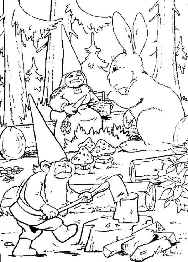 Volwassen Kleurplaat Kerst Dibujos Animados David El Gnomo
