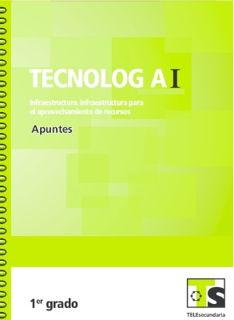 Libro de TelesecundariaTecnología I Infraestructura para el aprovechamiento de recursosPrimer grado2016-2017