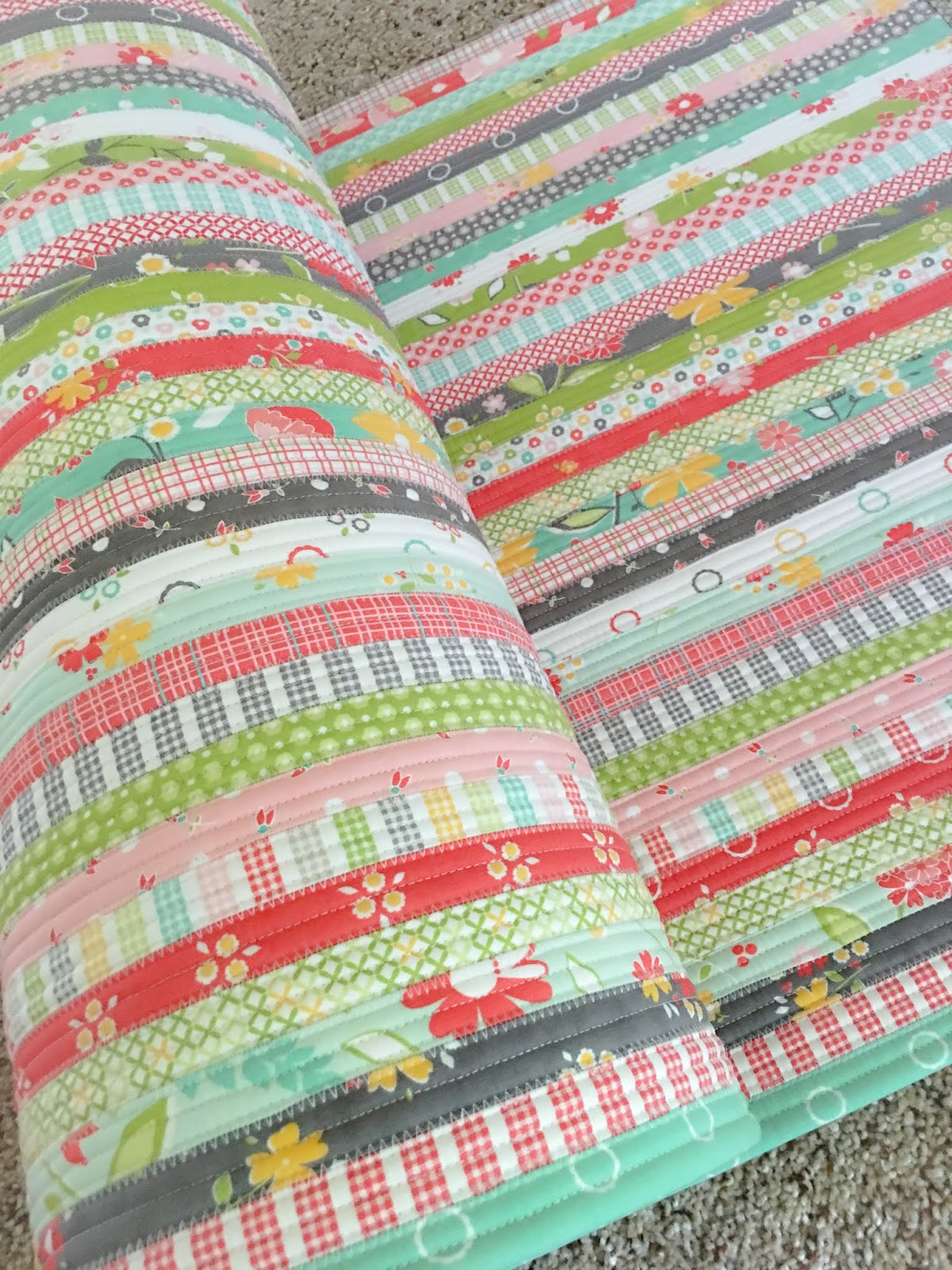 Carried Away Quilting Fun Project Alert The Jelly Roll Rug