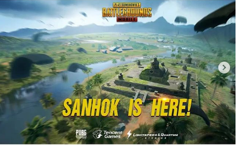PUBG MOBILE'S LATEST RENOVATE   SANHOK With MINI-MAP, QBZ RIFLE