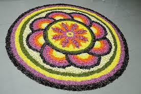 Simple Flower Rangoli Patterns