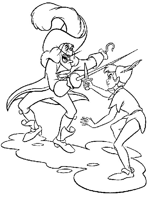 Colour Me Beautiful: Peter Pan Colouring Pages