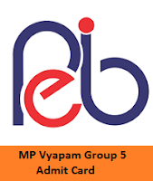 MP Vyapam Group 5 Admit Card