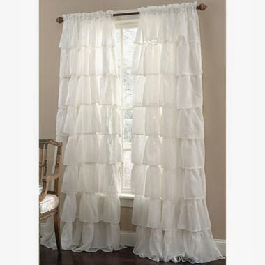 Gypsy Ruffled Rod Pocket Sheer Panel