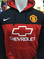 Jual Jaket Hoodie Man United Hitam Merah Chevrolet