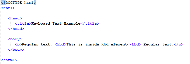 HTML Keyboard Text