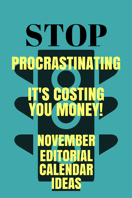 stop procrastinating, it's costing you money.
