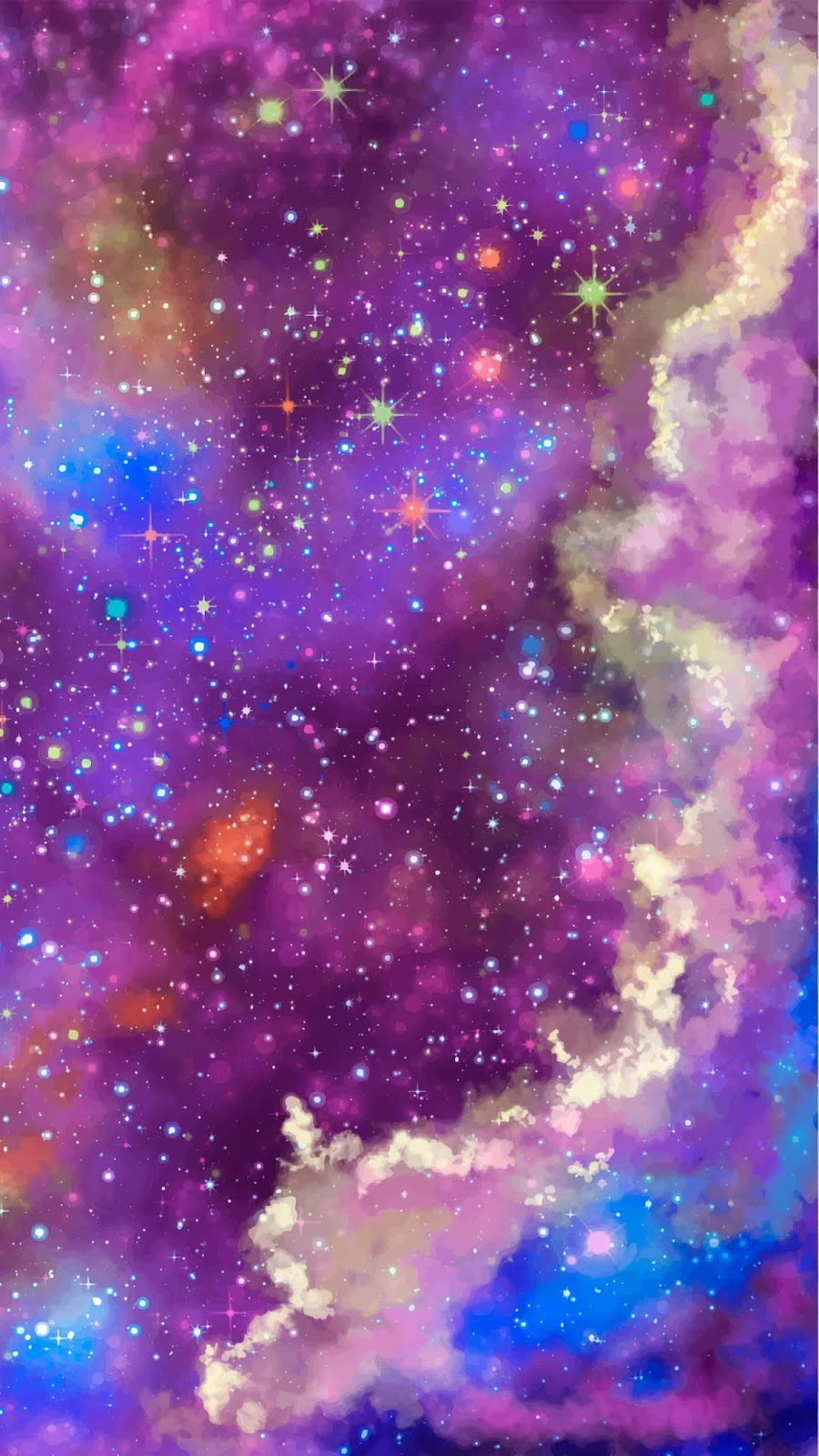 Colorful galaxy