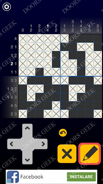 Picross Galaxy Level 3 Solution, Cheats, Walkthrough