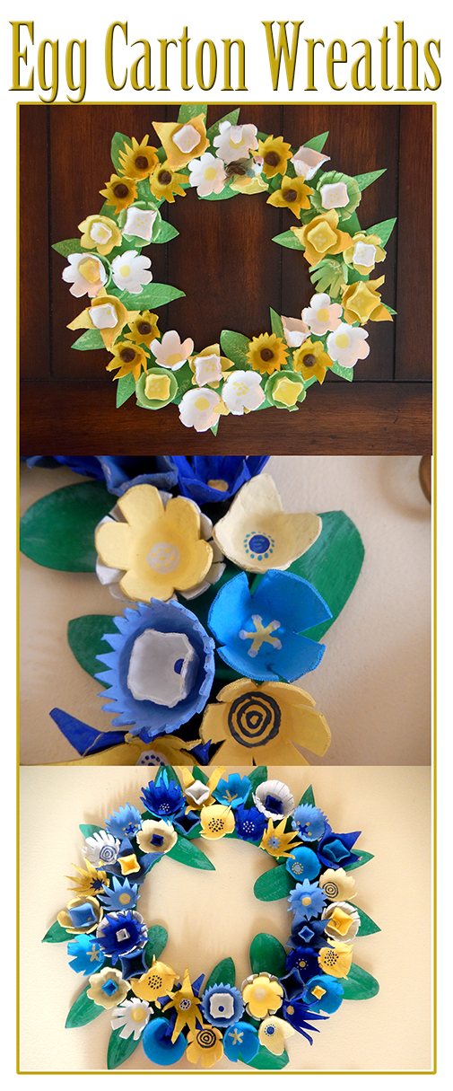 how to make egg carton wreath