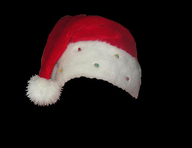 beaded santa hat