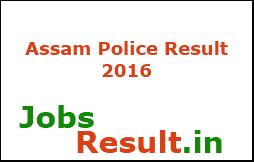 Assam Police Result 2016
