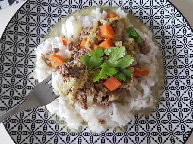 curry allégé viande hachée
