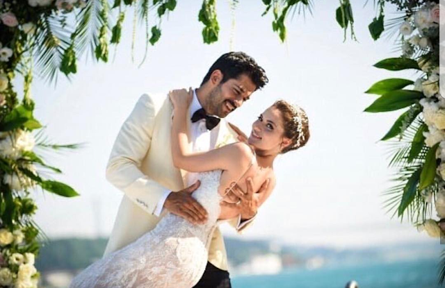 Fahryie and Burak at wedding