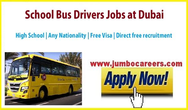 Dubai driver jobs 2018, bus driver jobs dubai, school bus driver jobs dubai