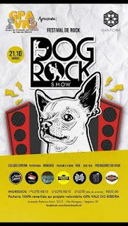 Estão à venda os ingressos para o 1º Dog Rock Show que acontece domingo 21/10, no Bantchá, em prol do GPA