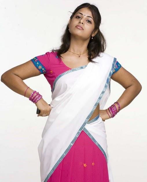 actress stills cute sindhu menon hot half saree stills
