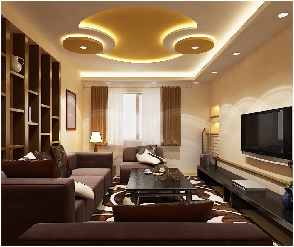 Living room wooden ceiling designs - Modern False Ceiling Pop Designs For Living Room