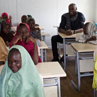 Photos of 2face Idibia at Borno State's IDP camp 2