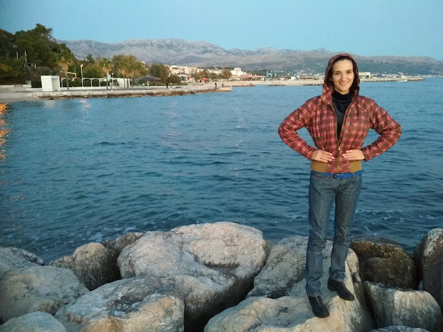Sunset in Split city + outfit of the day (jeans and biker boots)