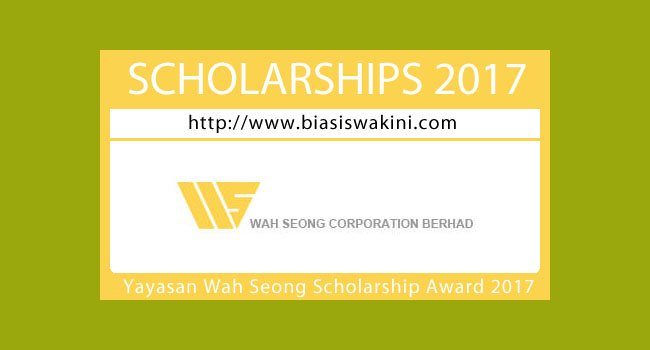 The Yayasan Wah Seong Scholarship Awards 2017